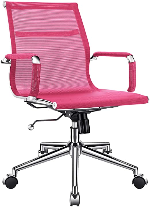 Amazon.com: Ergonomic Mesh Office Chair with Armrest, Pink .
