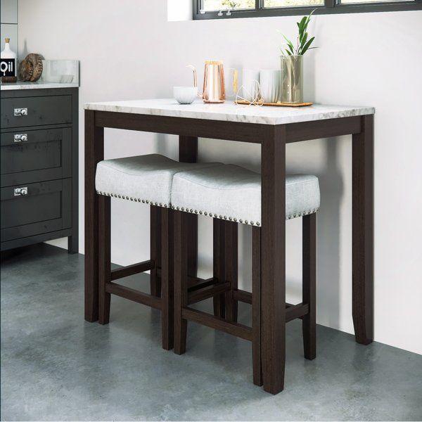 Rea 3 Piece Pub Table Set | Pub table, chairs, Pub table sets .
