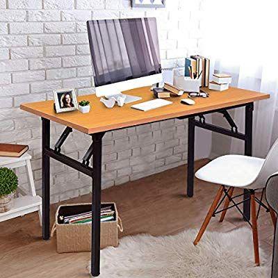 Amazon.com: TANGKULA Folding Table Simple Metal Frame Computer .