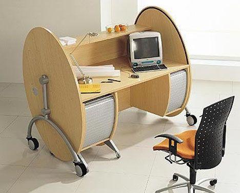 Rolltop Desks Revisited: Modern, Affordable & Portable   Computer .