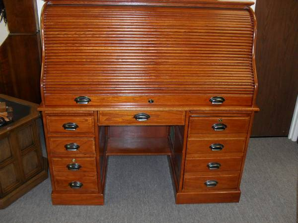 """Gorgeous """"Modern"""" Computer Roll Top Desk - $575 - Quality Used ."""