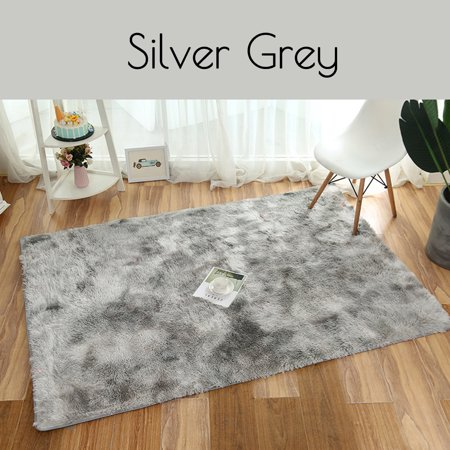 Washable Super Soft Indoor Modern Shag Area Silky Smooth Fur Rugs .