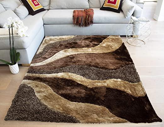 Amazon.com: LA Rug Linens Brown Beige Colors 8'x10' Feet Super .