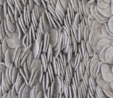 Enoki Silver - Gray Felt Shag Rug from the Felt Rugs collection at .