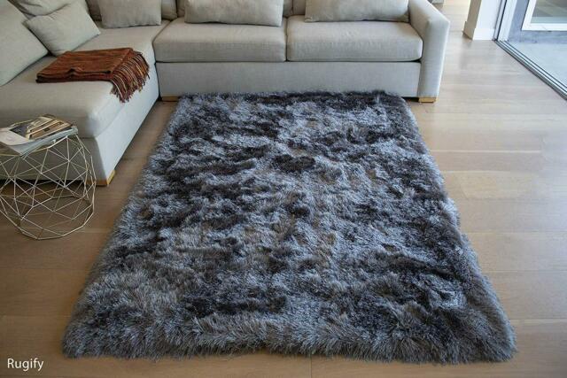 Cozy Shag Rug Modern Soft Solid Pile Area Rug Carpet 8'x10' Feet .