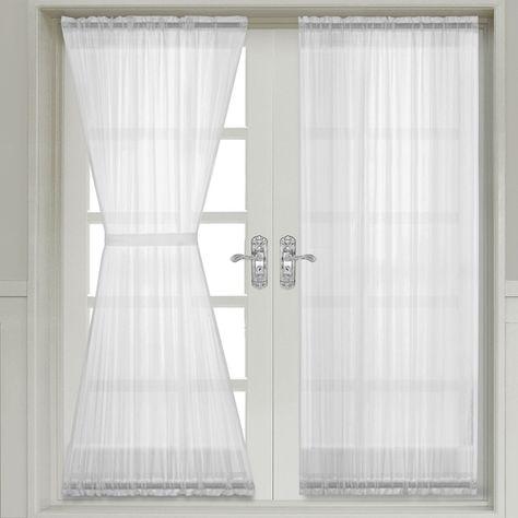 Abri Crushed Sheer Door Curtain Panel | French door curtain panels .