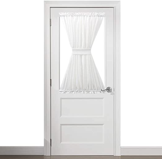 Amazon.com: Zceconce Off White Linen Semi Sheer Modern French Door .