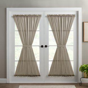 Modern Sheer Door Panel Curtains French Door Panel Curtains .