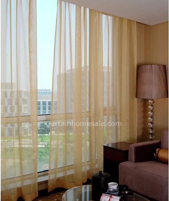 Modern Gold Flocking Home Custom Sheer Curtain And Door Pan
