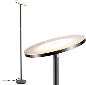 Floor Lamp, LED Floor Lamps for Living Room, Tall Torchiere Floor .
