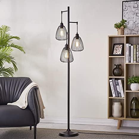 Amazon.com: LeeZM Black Industrial Floor Lamp For Living Room .