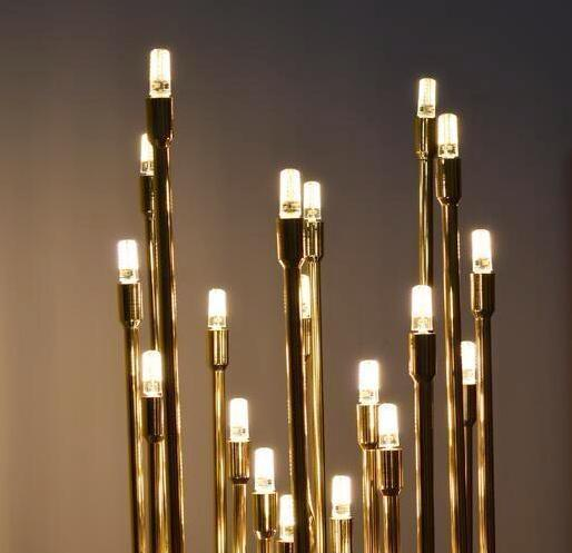 Buy Gold-Colored Modern Tree Lamp - Decorative Floor Lamp .
