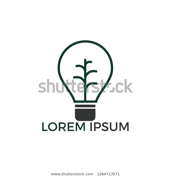 Abstract Bulb Lamp Modern Tree Logo Stock Image | Download N
