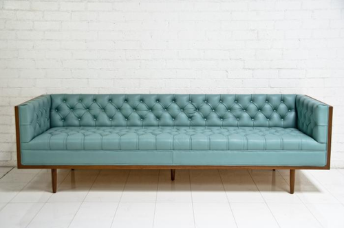 Modern Vintage Sofa Retro | Retro sofa, Blue leather sofa, Vintage .