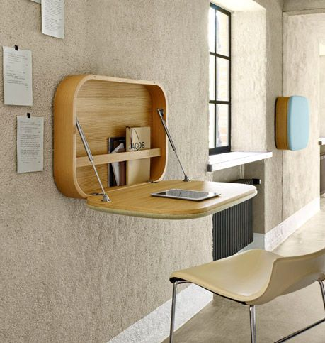 Modern Wall-Mounted Desks | Furniture, Space saving furniture .