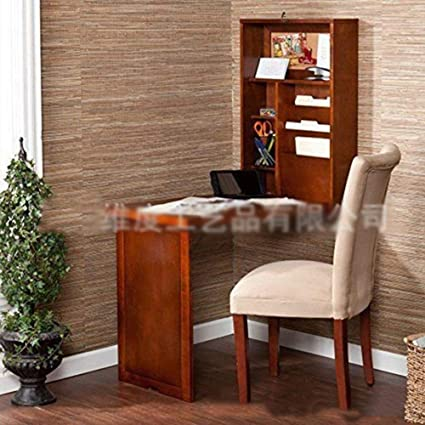 Amazon.com: DEED Small Table Household Fold Out Wall Mount Desk .