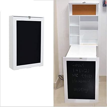 Amazon.com: DEED Small Table Household Wood Wall-Mounted Writing .