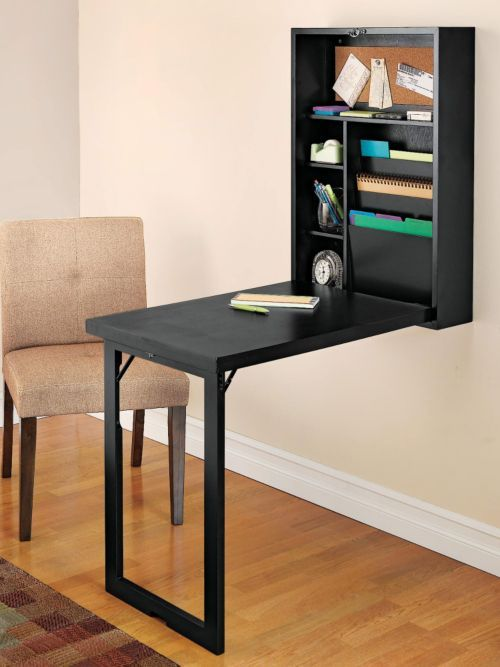 Fold-Out Convertible Desk - Wall Mounted Folding Desk | Solutions .