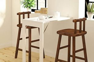 Amazon.com: Folding Dining Table Wall-Mounted Fold Up Table for .