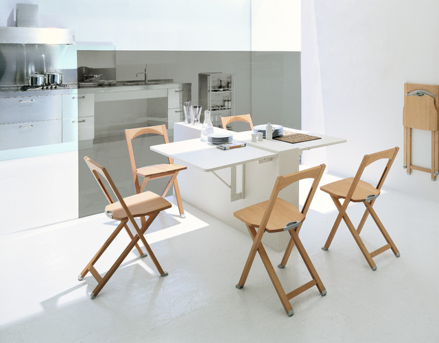Calligaris Quadro Wall-mounted drop-leaf table - Modern - Dining .