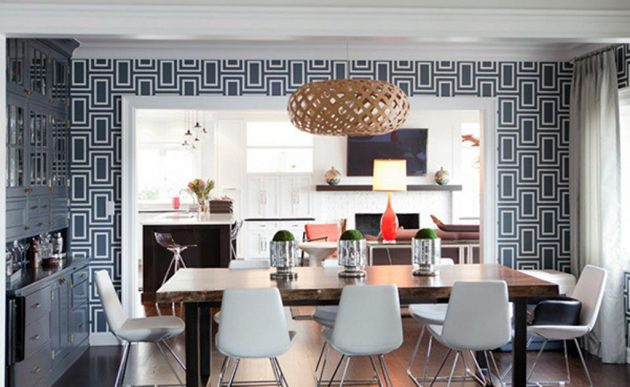 17 Fabulous Dining Room Designs With Modern Wallpap