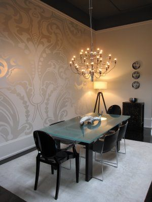 Fun New Ways to Use Traditional Damask | Decor, Contemporary .