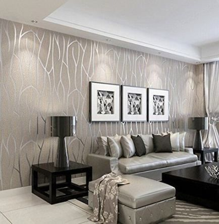 Trendy Wall Paper Modern Livingroom Ideas #wall   Home living room .