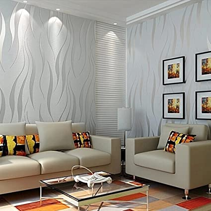 Modern Non-Woven 3D Wallpapers, Pattern Environmental Protection .