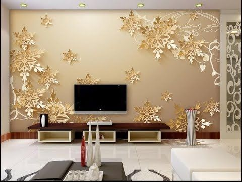 Wallpaper design for living room ! Home decoration ideas 2019 .