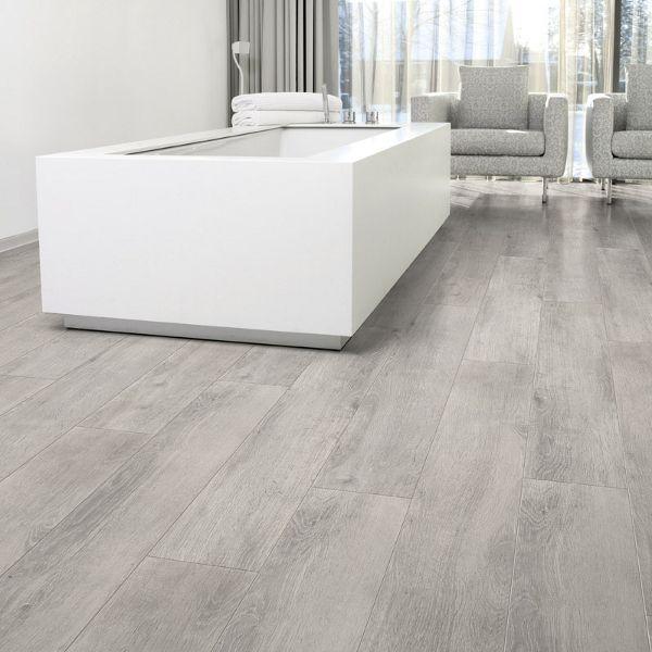Aquastep Waterproof Laminate Flooring Oak Grey V-Groove | Grey .
