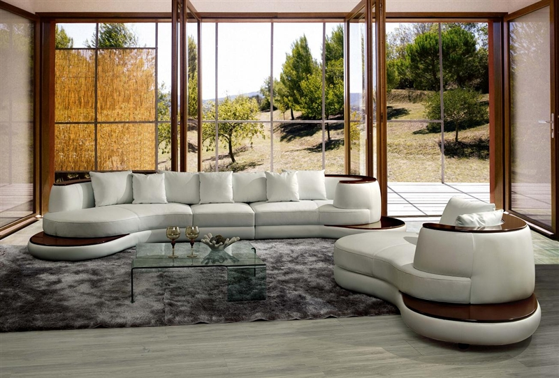 Modern White Sectional Sofa TOS-LF-1