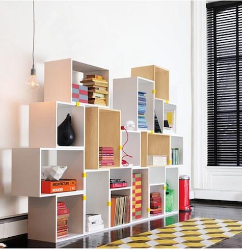 Storage: High/Low Modular Bookshelves - Remodelis