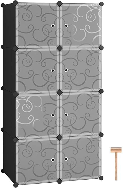 Amazon.com: C&AHOME Cube Storage Organizer, 8- Cube DIY Plastic .