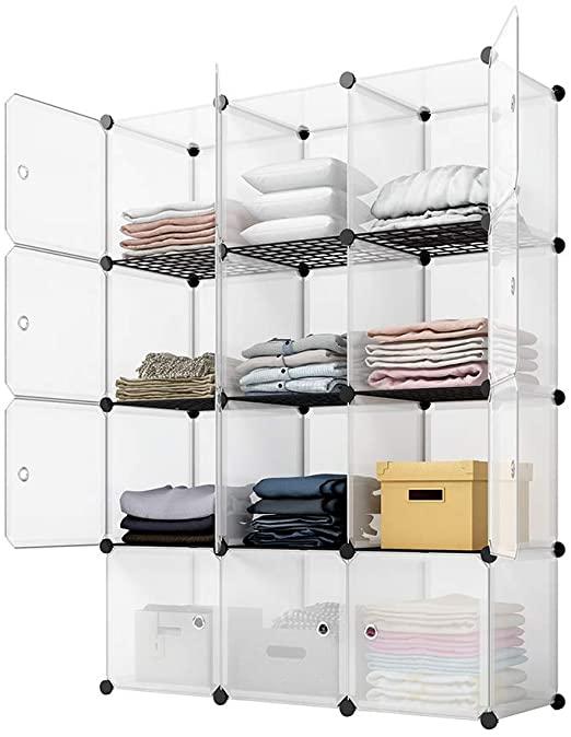 Amazon.com: KOUSI Portable Storage Cubes-14 x14 Cube (12 Cubes .