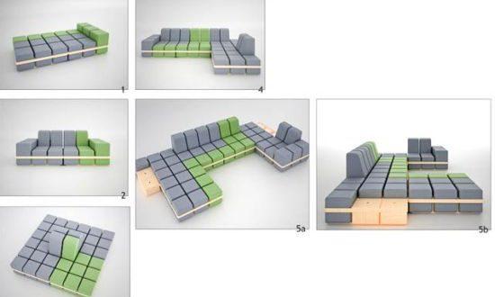 Playfully modular seating system | Modular couch, Furniture design .