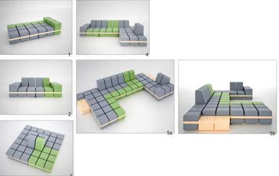 Playfully modular seating system | Modular couch, Furniture design .
