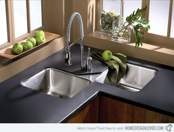 15 Cool Corner Kitchen Sink Designs | Modern kitchen sinks, Corner .