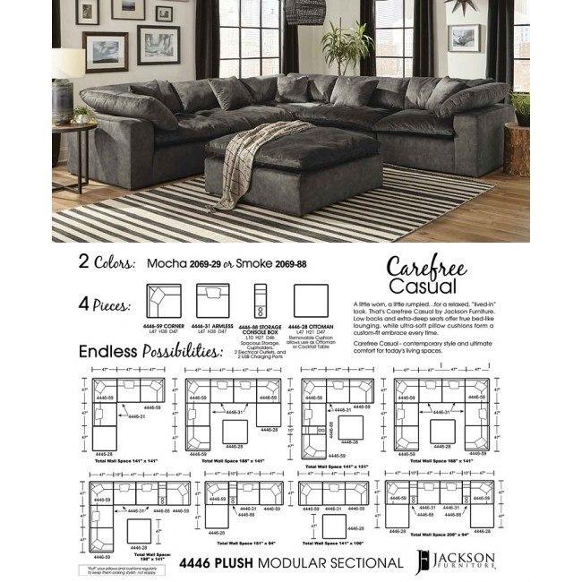 Plush Modular Sectional (Smoke) by Jackson Furniture | FurniturePi