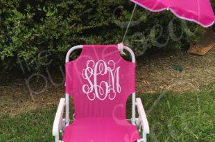 Monogrammed Kid's Beach Chair w/ umbrella, Monogrammed chair .