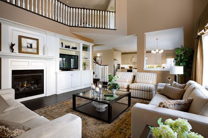 30 Elegant American Style Living Room Designs from Jane Lockhart .