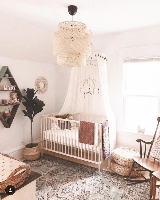 45 Beautiful Baby Girl Nursery Room Ideas | Decoracion habitacion .