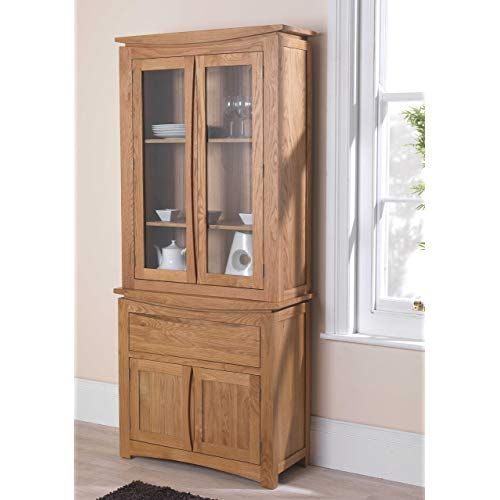 Oak Dresser Display Cabinet | Dresser | Solid oak furniture, White .