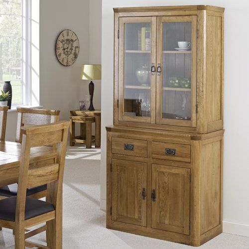 Elizabethville Solid Oak Display Cabinet Brick & Barrow | Wall .