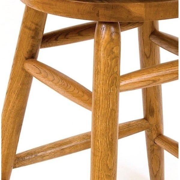 Shop Solid Medium Oak Backless Saddle Swivel 24-inch Counter .