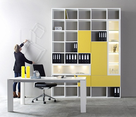 9 Stylish and Modern Ideas for Office Cabinet Desig