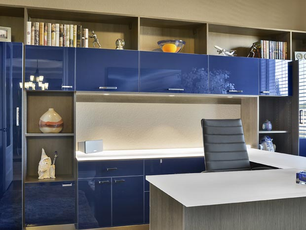 Custom Home Office Built Ins & Cabinet Storage | California Close