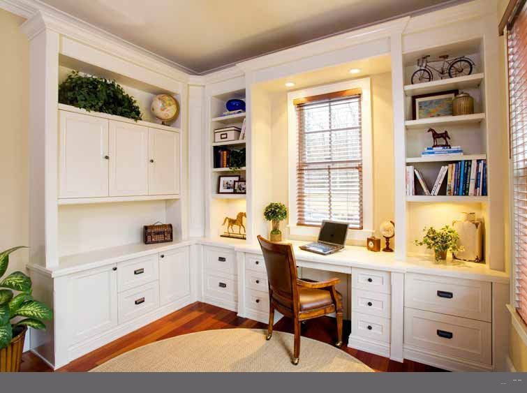 Custom home office desk cabinetry | Home office cabinets, Home .