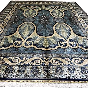 Amazon.com: Yuchen 10'x14' Large Persian Silk Rugs Qum Home Decor .