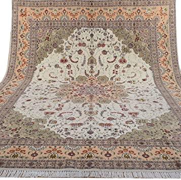 Amazon.com: Yilong 9'x12' Handmade Persian Wool Silk Rug Tabriz .