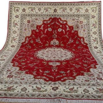 Amazon.com: Yilong 9'x12' Handmade Persian Wool Silk Rug Floral .